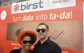 A Birst booth at a 2013 conference.