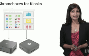 Chromeboxes can be used for kiosks.