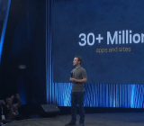 Facebook's Mark Zuckerberg at Facebook's F8 conference in San Francisco on March 25.