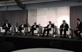 Gilman Louie, General Partner, Alsop Louie; Mark Siegel, Managing Director,  Menlo Ventures; Ted Schlein , Managing Partner, Kleiner Perkins Caufield Byers; Alex Doll, Founder, Managing General Partner, Ten Eleven Ventures; Yanev Suissa, General Partner, SineWave Ventures