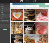 """Yummy visual tags showing categories of responses on GlimpzIt to """"What is your favorite food?"""" campaign."""