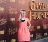 Actress Maisie Williams, who plays Arya Stark on 'Game of Thrones,' seen at the premiere of the show's fifth season in San Francisco on March 23, 2015.