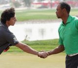 EA partners up with McIlroy (left) after ending its arrangement with Woods.