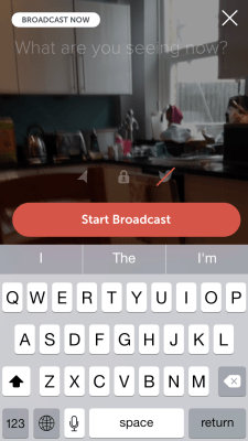 Periscope: Start Broadcast