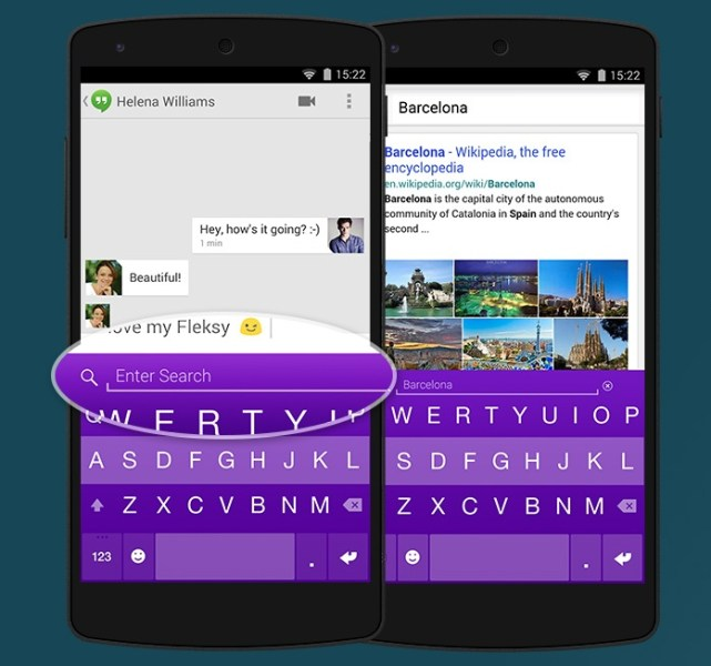 Yahoo Search & Fleksy