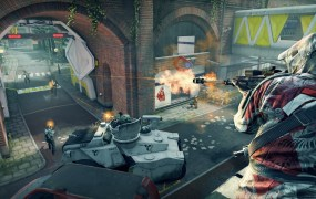"Dirty Bomb takes place in an abandoned London, after a ""dirty"" radioactive bomb wipes out the people."