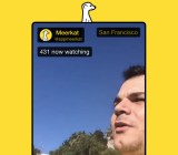 The Meerkat live video-streaming service in action.
