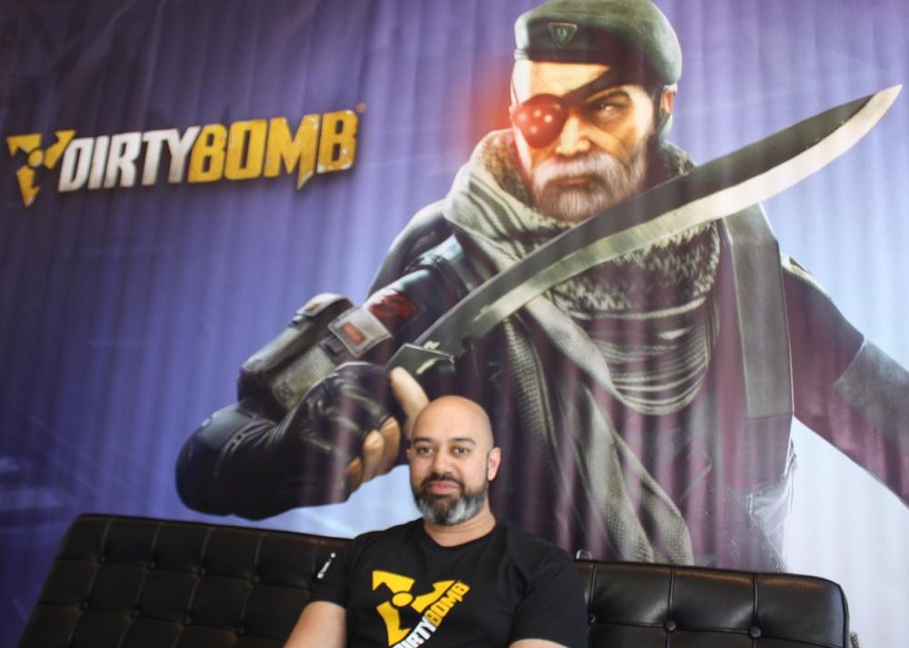 Neil Alphonso, lead designer of Dirty Bomb at Splash Damage.