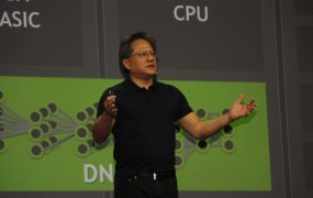 Jen-Hsun Huang, CEO of Nvidia, at GPUTech 2015.