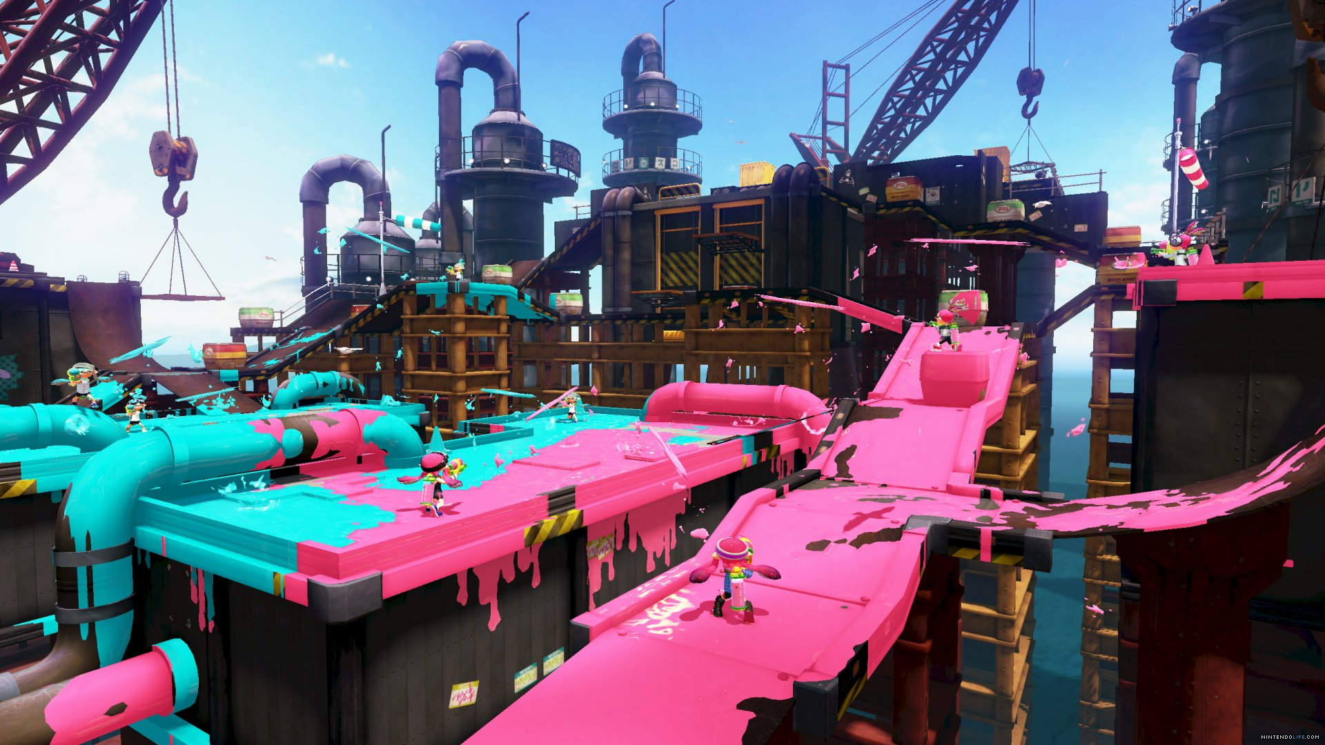 Splatoon is all about shooting paint.