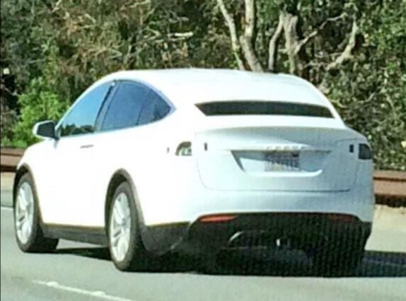 A Tesla Model X being road-tested in California.