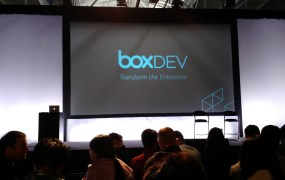 At the 2015 Box Dev conference in San Francisco on April 22.
