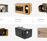 A selection of the many Google Cardboard viewers available now.