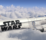 The Star Wars-themed ANA 787-9 Dreamliner.