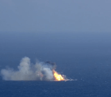 SpaceX's Falcon 9 explodes after a nearly-successful return to the company's at-sea 'droneship' last Tuesday.