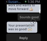 Slack on Apple Watch.