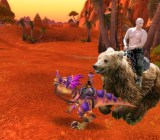 Vladimir Putin riding his mount in World of Warcraft.