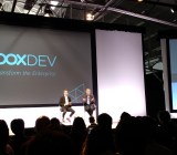 Google executive chairman Eric Schmidt, right, speaks with Box cofounder and chief executive Aaron Levie at Box's 2015 Box Dev conference in San Francisco  on April 22.