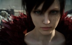Square Enix's crying human face -- digitally produced.