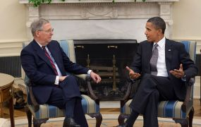 Senate majority leader and president Barack Obama not seeing eye-to-eye in the White House