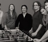 The DataHero team. Neumann is fourth from left.