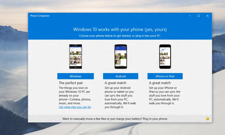 Microsoft Announces Phone Companion App For Windows 10 And