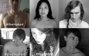 "The group also invites people to send in ""#ifeelnaked"" photos that are posted under a banner saying ""Congress should be ashamed of NSA mass spying. It's like a strip search, online."""