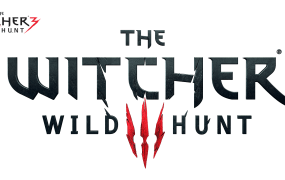 The original logo for The Witcher 3: Wild Hunt (top left) is a lot different to the redesign.