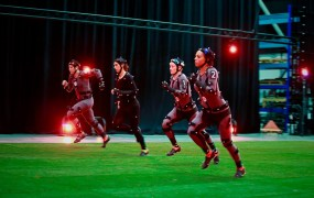 Four U.S. soccer stars do motion capture for FIFA 16 game.