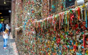 The Market Theater Gum Wall in downtown Seattle.
