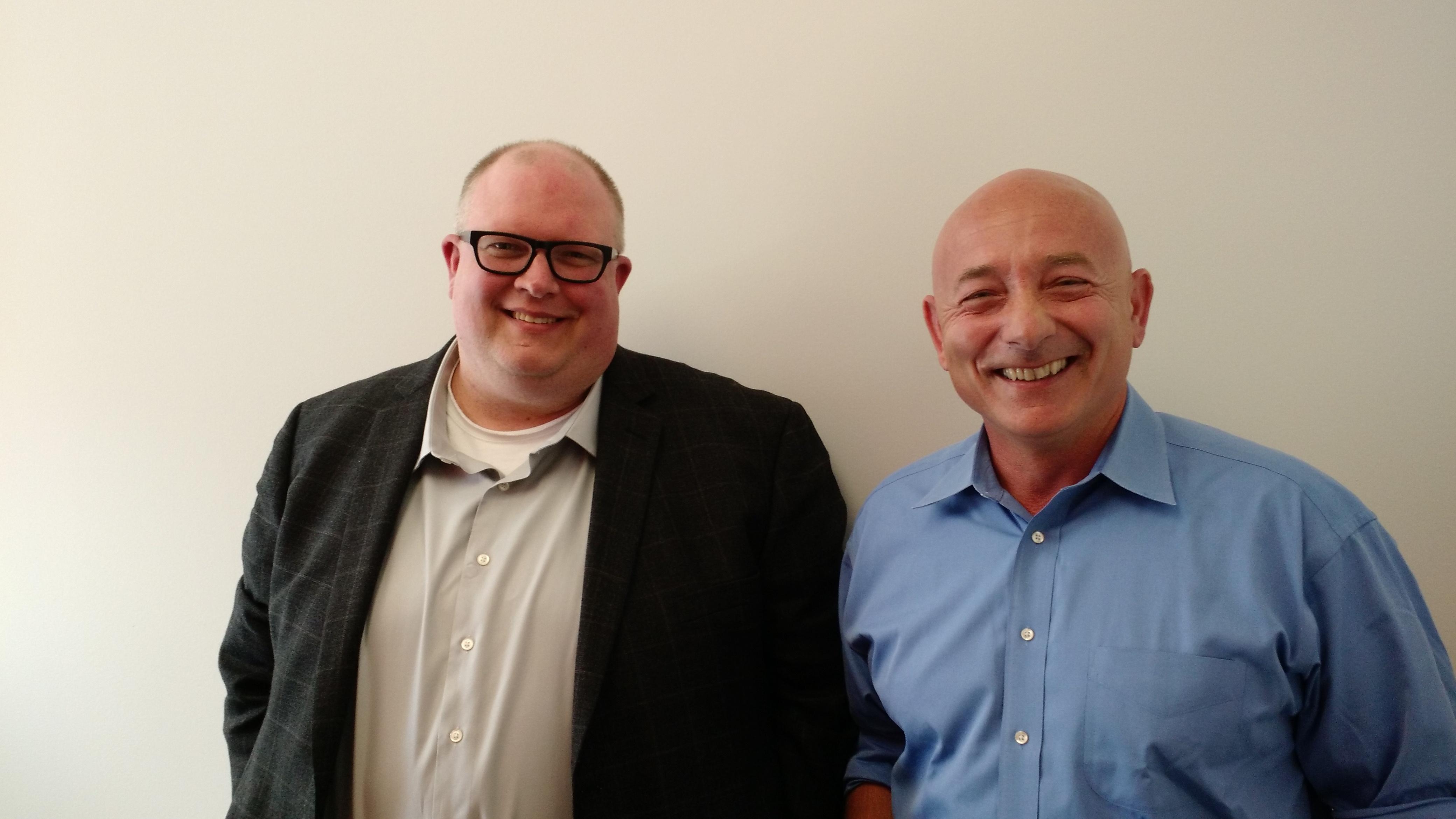 Maana cofounders Donald Thompson, left, and Babur Ozden.