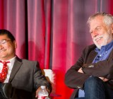 GamesBeat's Dean Takahashi and Nolan Bushnell, the founder of Atari.