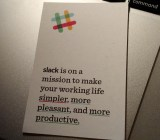 Slack chief marketing officer Bill Macaitis' business card.