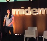Vania Schlogel, Tidal's Chief Investment Officer, speaking at the Midem music and technology conference at Cannes.