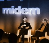 SoundCloud co-founder and CEO Alexander Ljung (left) being interviewed on stage at the Midem Music Industry Conference.