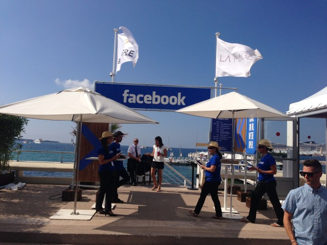 Facebook on the beach at Cannes Lions. Suck it, Menlo Park.