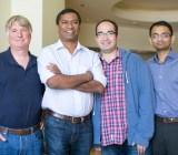 From left, Arcadia Data founders Doug Cameron, Sushil Thomas, Shant Hovsepian, and Priyank Patel.