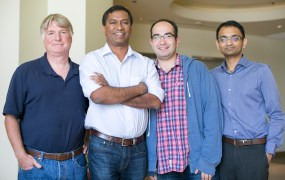 From left, Arcadia Data founders Doug Cameron, Sushil Thomas, Shant Hovsepian, and Priyank Patel.