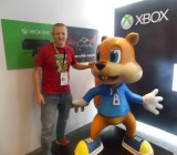 Rare studio head Craig Duncan and his pal Conker.