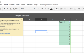 Google Sheets with new filtering capabilities.
