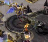 The Battlefield of Eternity features a fight between Ilarian, an angel, and Beleth, a demon.