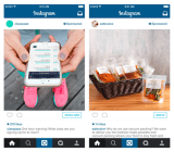 Instagram's visualization of ads and buy buttons