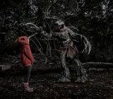Leshen is messing with one of the kids from the photo shoot. I'm guessing they didn't sleep too well that night.