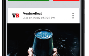 A Minds mockup showing someone wanting to exchange points for views on another channel of a VentureBeat story