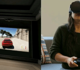 Xbox One in a virtual theater in Oculus Rift. It's a game inside a game!
