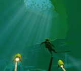 Abzu takes place underwater, and you never have to go up for air.