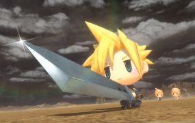 This version of Cloud looks just like a collectible toy.