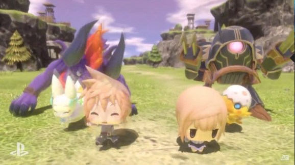 Characters in World of Final Fantasy come in a variety of adorable deformities.