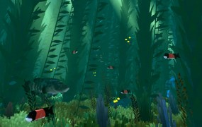 Abzu's underwater world.