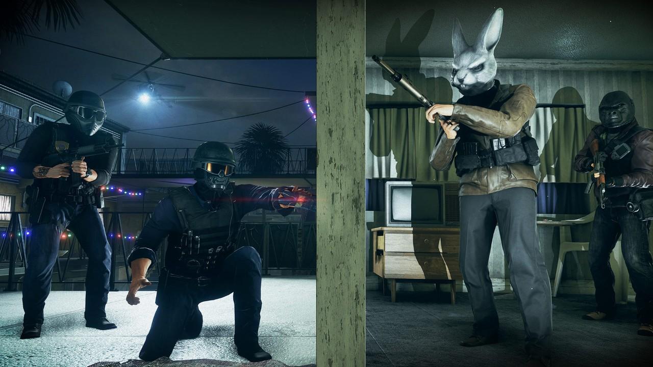 Battlefield Hardline: Criminal Activity has more masks for the criminals.